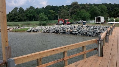 Custom Pier Decking and Riprap