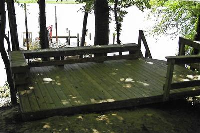 Hillside Deck over water